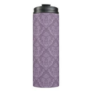 Purple floral wallpaper thermal tumbler