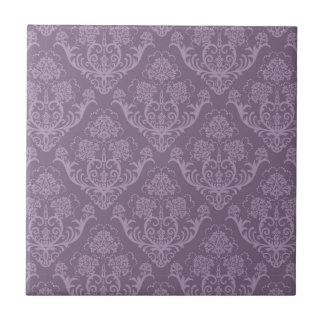 Purple floral wallpaper tile