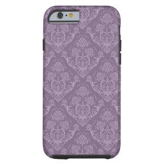 Purple floral wallpaper tough iPhone 6 case