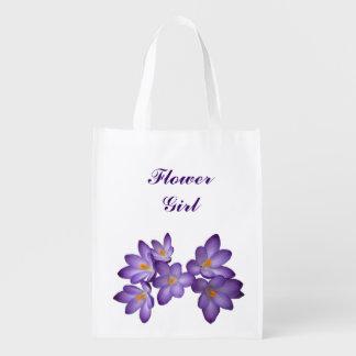 Purple Floral Wedding Flower Girl
