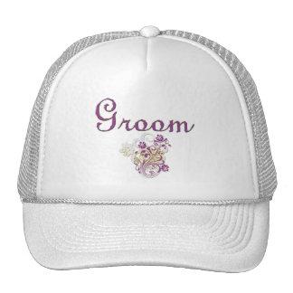 Purple Floral Wedding Invitation Set Cap