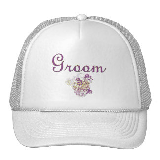 Purple Floral Wedding Invitation Set Hat