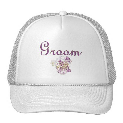 Purple Floral Wedding Invitation Set Hat