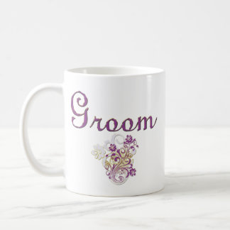 Purple Floral Wedding Invitation Set Coffee Mugs