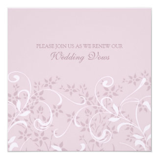 Purple Floral Wedding Vow Renewal Invitations