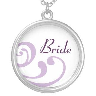 Purple Flourish Bride Necklace