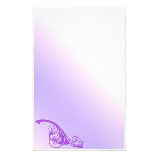 Purple Flourish Fantasy Stationery
