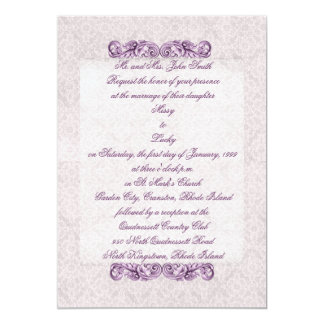 Purple Flourish Invitation