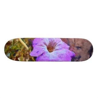 Purple flower 18.1 cm old school skateboard deck