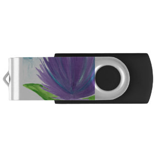 Purple Flower 1 USB Flash Drive