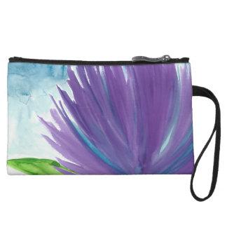 Purple Flower 1 Wristlet