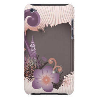 Purple Flower 2 iPod Touch Case-Mate Case