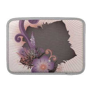 Purple Flower 2 MacBook Sleeve