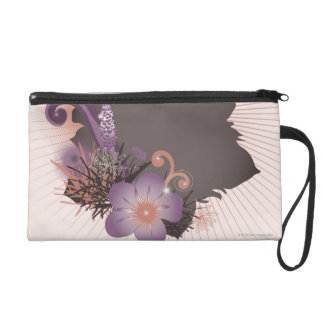 Purple Flower 2 Wristlet