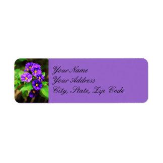 Purple Flower Address Label