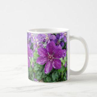 Purple flower after rain coffee mug