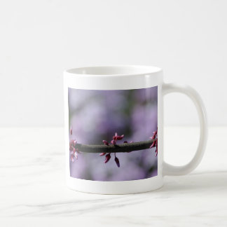 Purple Flower and Stem Coffee Mug