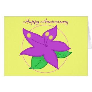 Purple Flower ANNIVERSARY CARD