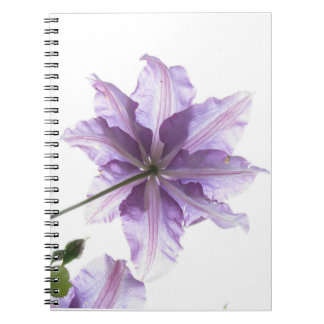 Purple flower art print spiral note book