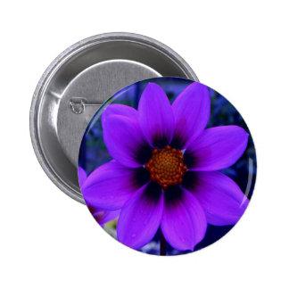 Purple Flower at Dusk 6 Cm Round Badge