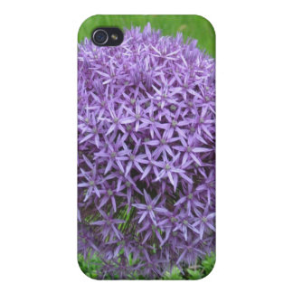 Purple Flower Ball iPhone 4 Cover