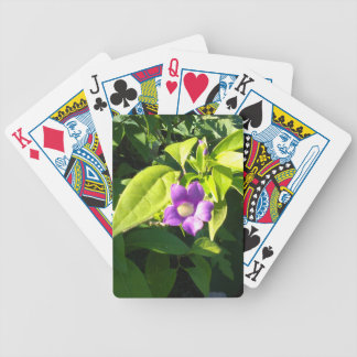 PURPLE FLOWER BICYCLE PLAYING CARDS