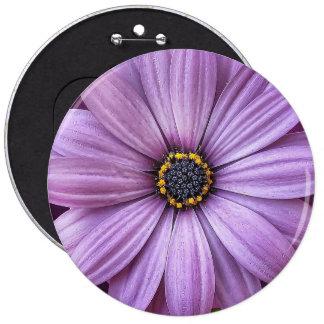 Purple flower blossom 6 cm round badge