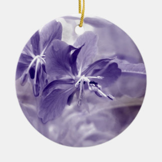 Purple Flower Bokeh Christmas Ornament