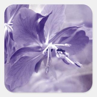 Purple Flower Bokeh Square Sticker
