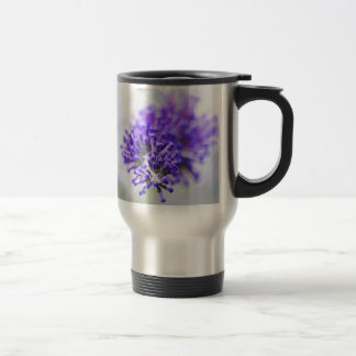 purple flower buds travel mug