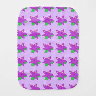 Purple Flower Burp Cloth