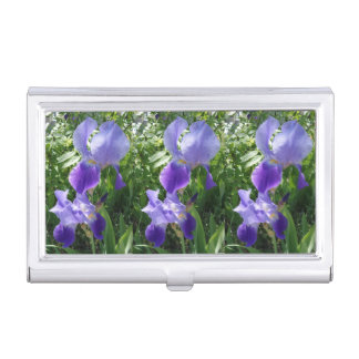 Purple Flower Business Card Holder
