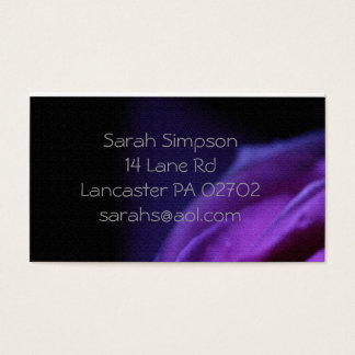 purple flower  business cards