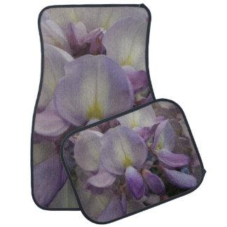 Purple Flower Car Floor Mats (Full Set)