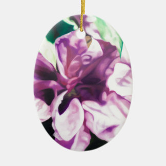 Purple Flower Ceramic Oval Decoration