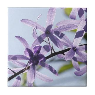 Purple Flower Ceramic Tile