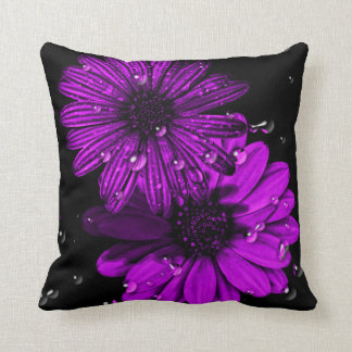 Purple flower cushion