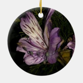 Purple Flower Christmas Ornament