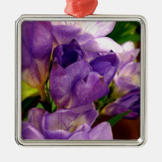 Purple Flower Christmas Tree Ornament