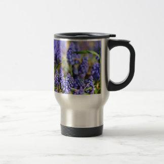 Purple Flower Delight Stainless Steel Travel Mug