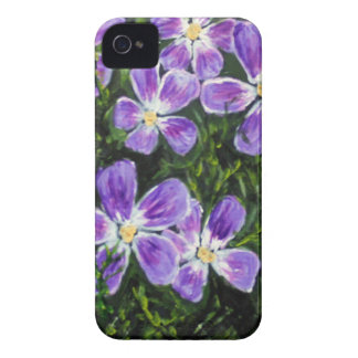 Purple flower design Case-Mate iPhone 4 case