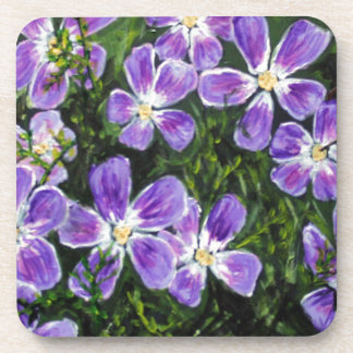 Purple flower design coaster