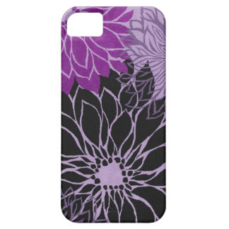 Purple Flower Design Iphone5 Case iPhone 5 Cover