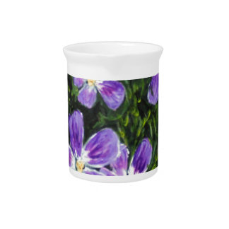 Purple flower design pitcher