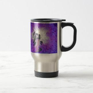 Purple Flower Distorted Coffee Mugs