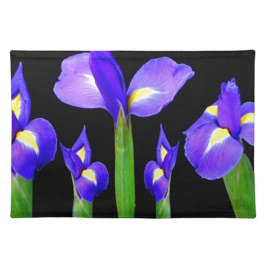 Purple Flower Floral Bouquet Elegant Romantic gift Placemat