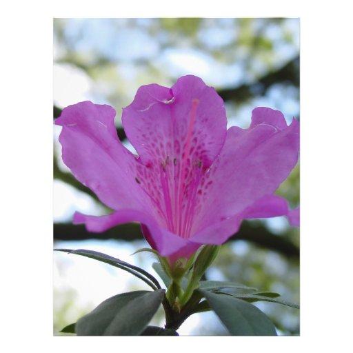 Purple Flower Personalized Flyer