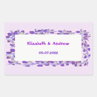 purple flower frame floral chic Sticker