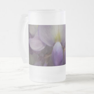Purple Flower Frosted 16 oz Frosted Glass Mug