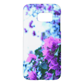 Purple Flower Galaxy s7 phone cover.
